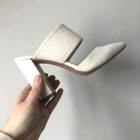 BCBG suede heels